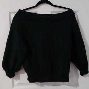 H&M off the shoulder sweatshirt